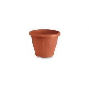 Veca Firenze Vaso 50 cm Circolare Colore Terracotta Per Piante e Fiori da Giardino