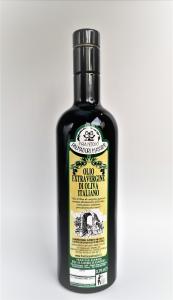 OLIO EXTRAVERGINE D'OLIVA ITALIANO FRANTOIO PALMADORI BOTTIGLIA SCURA 0,75 LT PRODOTTO UMBRIA ITALY