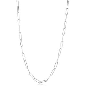 Collana CHUNKY in acciaio, catena forzatina rettangolare