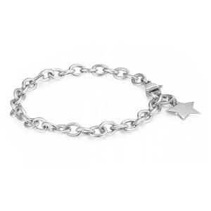 Bracciale HAPPY in acciaio con stella
