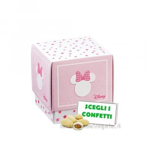 Portaconfetti Minnie Stars Rosa 7x7x7 cm - Scatole battesimo bimba