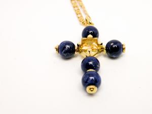 Croce in Oro lapis e citrino
