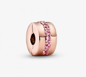 Pandora Clip Sentiero rosa scintillante
