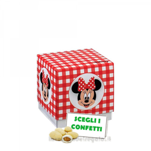 Portaconfetti Minnie Disney Party Rossa 5x5x5 cm - Scatole battesimo bimba