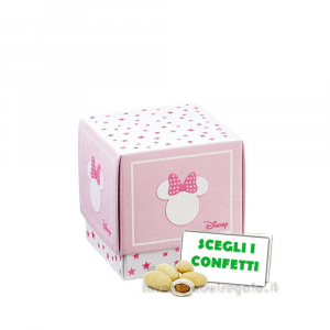 Portaconfetti Minnie Stars Rosa 5x5x5 cm - Scatole battesimo bimba