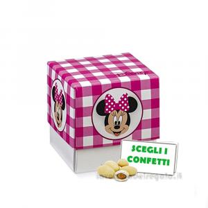 Portaconfetti Minnie Disney Party Rosa 7x7x7 cm - Scatole battesimo bimba