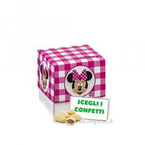 Portaconfetti Minnie Disney Party Rosa 5x5x5 cm - Scatole battesimo bimba