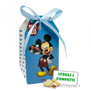 Portaconfetti Mickey Go Route 28 Azzurro Disney 5.5x3.5x10 cm - Scatole battesimo bimbo