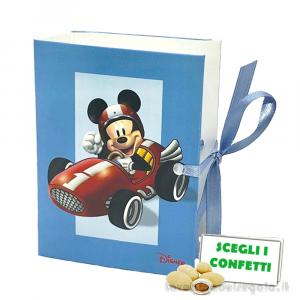 Portaconfetti libro Mickey Go Route 28 Azzurro Disney 7x6x3 cm - Scatole battesimo bimbo