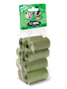 Imac Sacchetti igienici biodegradabili 4 Rotoli da 15 Sacchetti