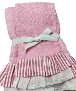 Set asciugamani con balza