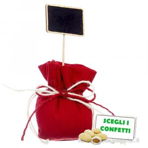 Portaconfetti palla Rosso con Lavagna 10 cm - Sacchetti laurea
