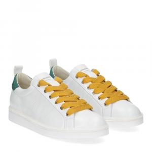 Panchic P01W leather white brightgreen yellow