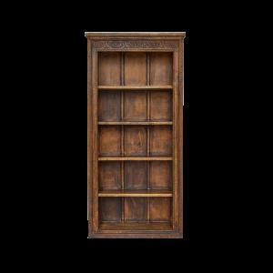 Libreria con 5 ripiani in legno di teak massello con cornice recuperata da vecchi portali indiani