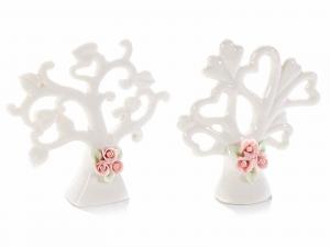 Decorazione ceramica Albero della vita con decori roselline