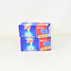 GREY Piastrine zanzare 2 X 30 prodotto insetticida Nuovo