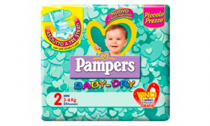 Pampers Baby Dry Mini 2 (3-6 kg) 24 pezzi