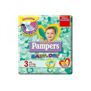 Pampers Baby Dry Midi 3 (4-9 kg) 20 pezzi