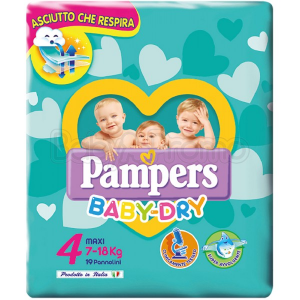 Pampers Baby Dry Maxi 4 (7-18 kg) 19 pezzi