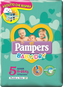 Pampers Baby Dry Junior 5 (11-25 kg) 17 pezzi