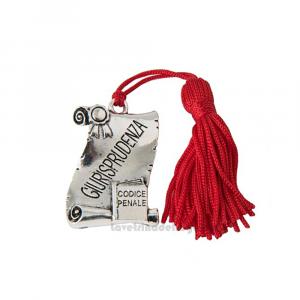 Ciondolo laureato in Giurisprudenza con nappina 4x3 cm - Decorazioni laurea