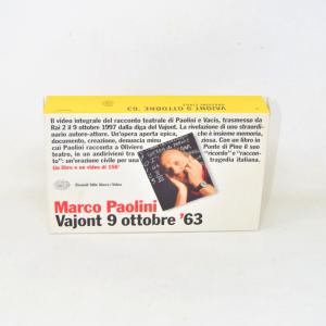 Videocassetta Vajont 9 Ottobre '63 Marco Paolini + Libro