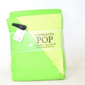 Copriletto Nuovo 1 Piazza 170 X 250 Cm Verde