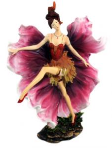 Fata con fiore in resina