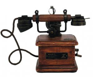 Telefono in legno da arredo
