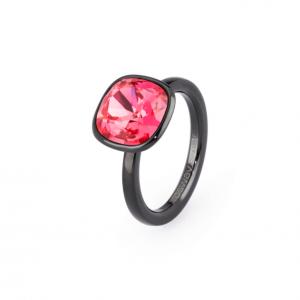 Anello tring - Sensualità, cristallo indian pink Swarovski - 18