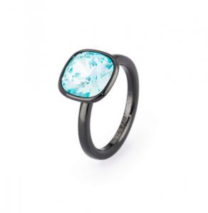 Anello tring - Ribellione,  cristallo turquoise Swarovski - 18