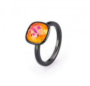 Anello tring - Esuberanza, cristallo astral pink Swarovski - 18