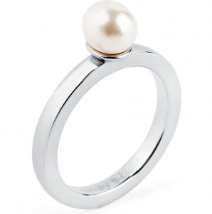 Anello tring - Bontà, Perla bianca- 16