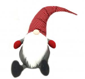 Gnomo grande fermaporta cm 150 cappello rosso