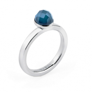 Anello tring - Indipendenza, Agata blu - 20