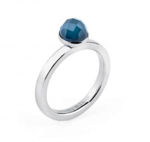 Anello tring - Indipendenza, Agata blu - 12
