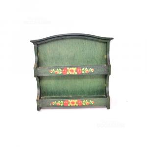 Mensola Verde Porta Spezie 29x30x5.5 Cm