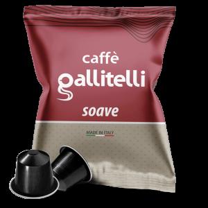 Caffè Gallitelli 100 capsule compatibili Nespresso miscela Soave