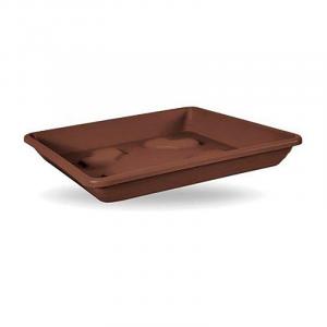 Veca Sottovaso Quadrato Colore Bronzo 36 cm Ideale per Fiori e Piante Da Giardino