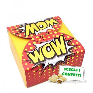 Portaconfetti stile Pop Art Giallo 5x5x2.5 cm - Scatole matrimonio