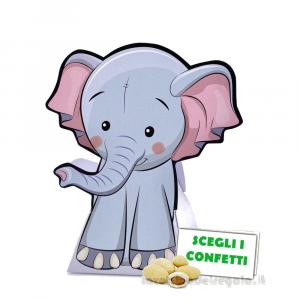 Portaconfetti Elefantino 9.5x4x12 cm - Scatole battesimo e comunione