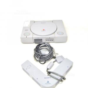 Playstation Uno Grigia Con Cavi E Multitap Per Più Giocatori (No Joystik)