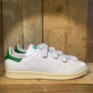 Scarpa Adidas Stan Smith CF Nigo con Strappi in Velcro Bianca e Verde