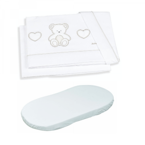 Set lenzuola ovale + coprimaterasso linea sogni d'Oro by Italbaby