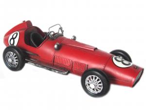 Auto modellino metallo rossa cm 27