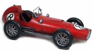 Auto da corsa modellino metallo rossa cm 41