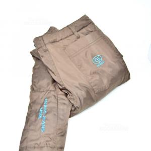 Ski Trousers Woman Guess Brown Internal Light Blue Size 40