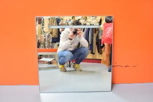 Specchio Bagno Con Fascia Luminosa 72 X 70 Cm