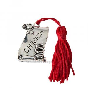 Ciondolo laureato in Chimica con nappina 4x3 cm - Decorazioni laurea