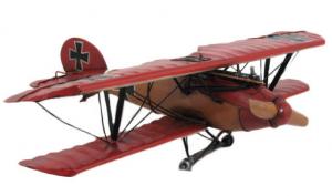 Aereo in metallo rosso modellino cm 36